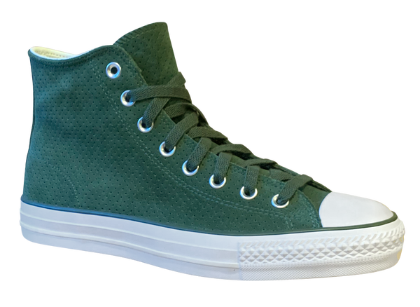 Image of Converse CONS Chuck Taylor Hi - Vintage Green / White Suede