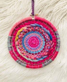 Pink Swirl Circular Weaving