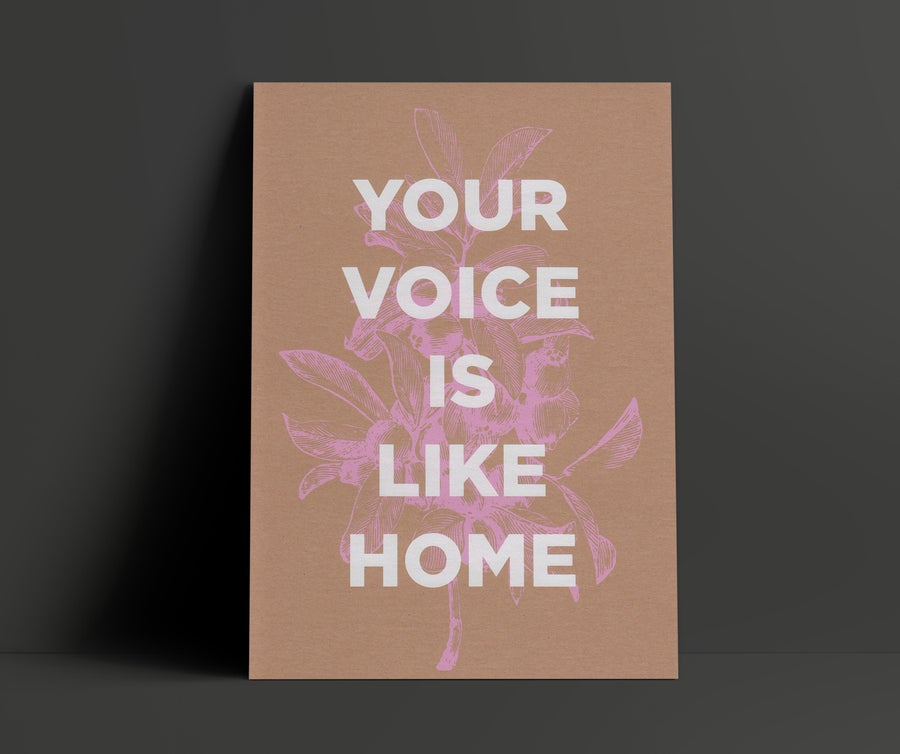 Image of Your Voice Is Like Home