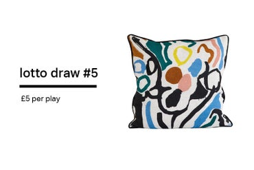 Image of Lotto Draw #5 - Cove Blue Cushion- 55 x 55 cm