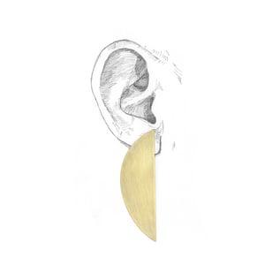 Image of HALF MOON EAR RINGS