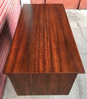 Walnut desk by Morris of Glasgow