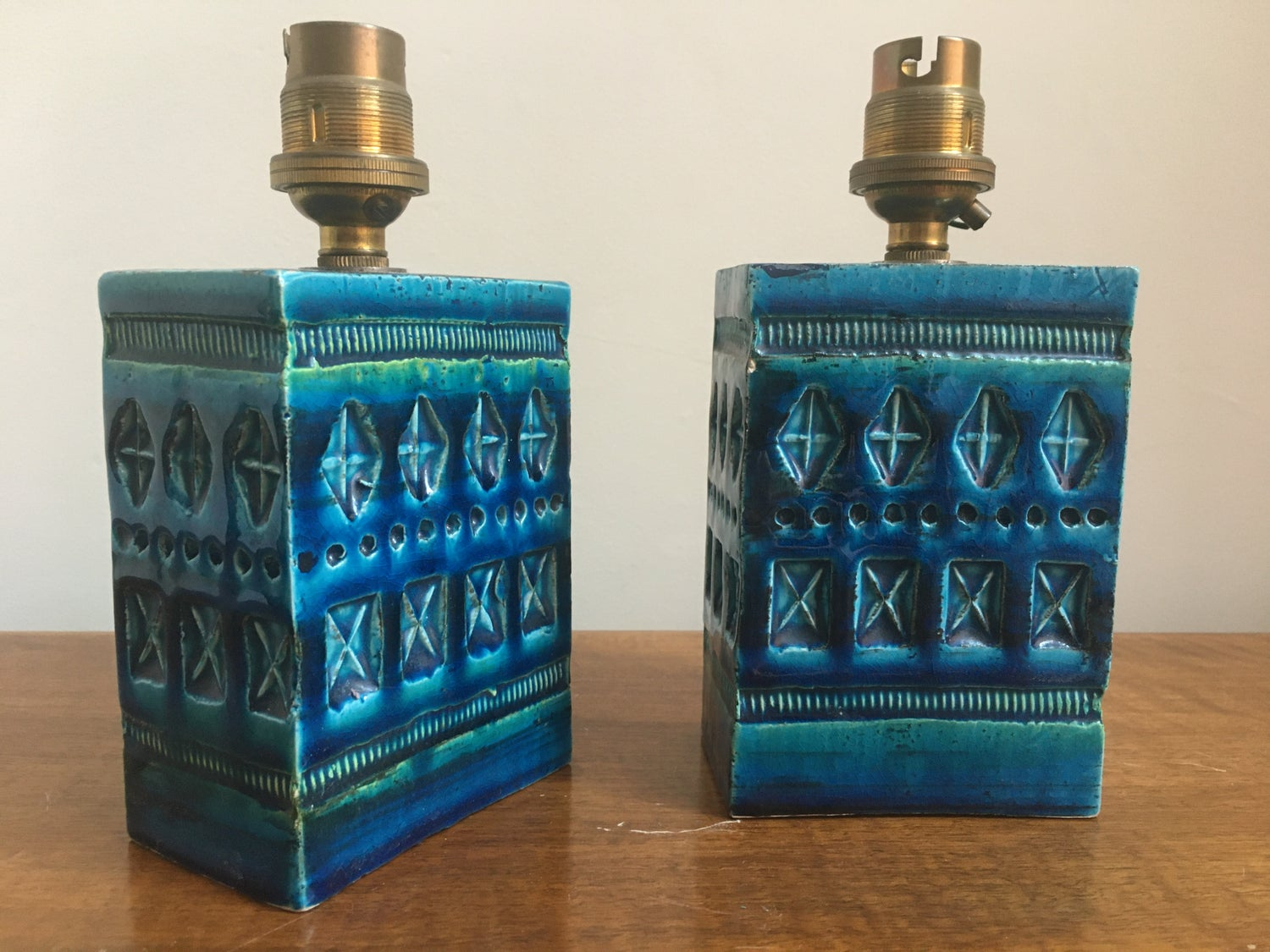 Pair of Bitossi lamps