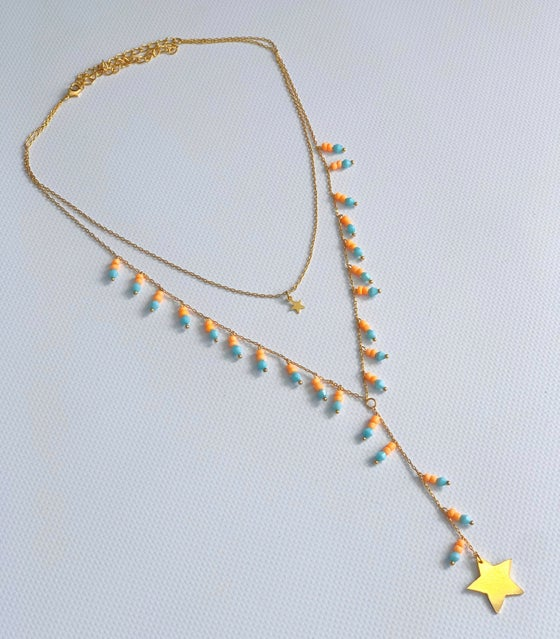 Image of Star Double Necklace