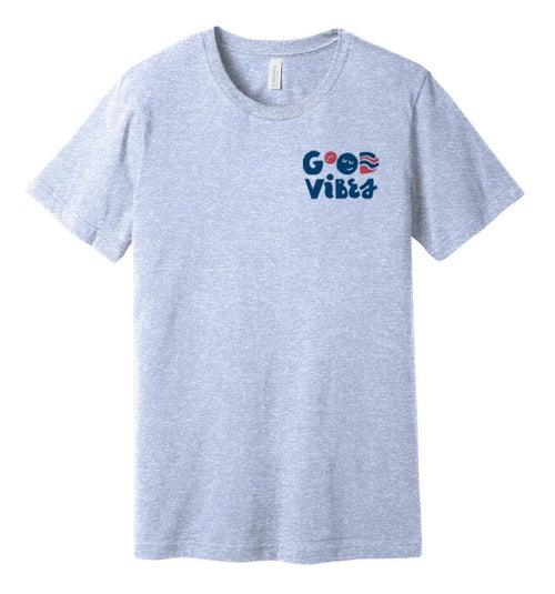 Image of Good Vibes Fundraiser T-shirt- Heather Blue