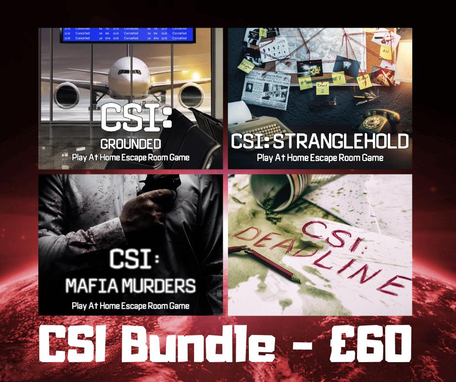Image of CSI Online Escape Room -  4 Pack