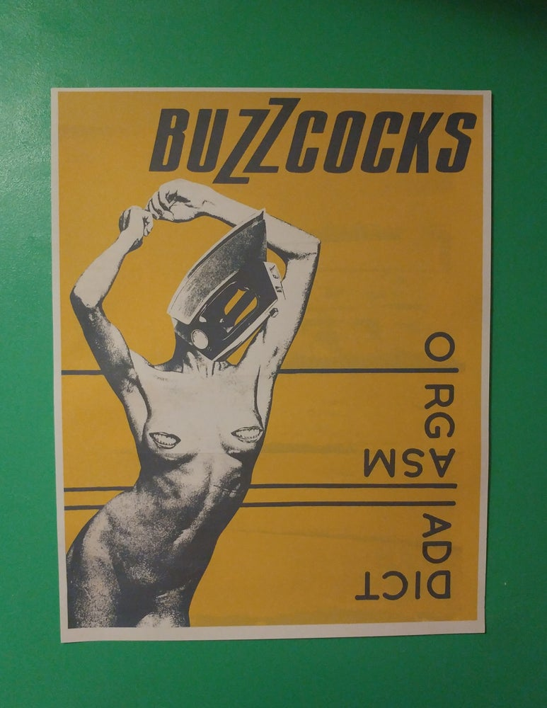 Image of Buzzcocks orgasm Addict poster 22x28