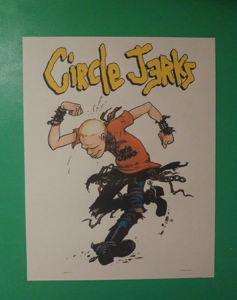 Image of Circle Jerks colored poster 22x28