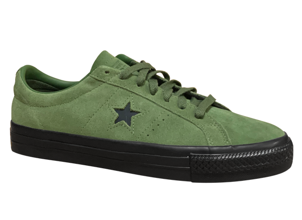 Image of Converse CONS One Star Pro - Cypress Green / Black Suede