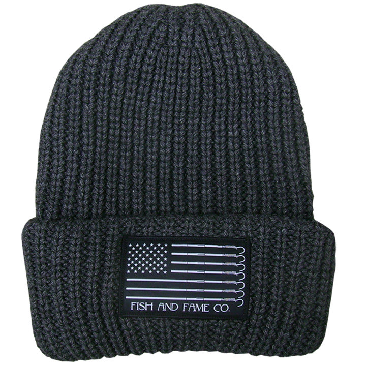Image of Trust Rope Knit Cap (charcoal)