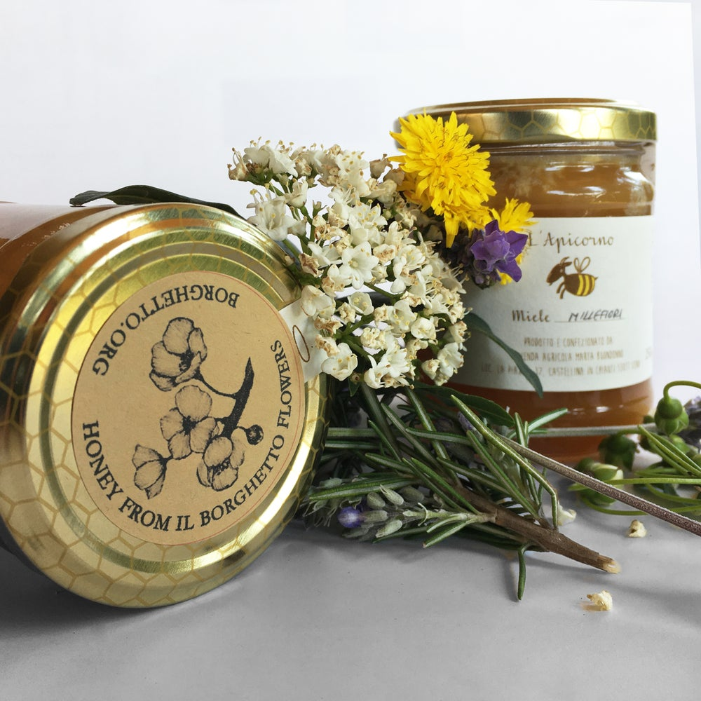Image of 6 MIELE MILLE FIORI BIOLOGICO/ 6 ORGANIC WILDFLOWER HONEY [2020]
