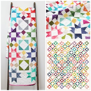 Image of Moroccan Getaway all 32  (or just 20!) colors Ombre fabric Quilt PDF Pattern