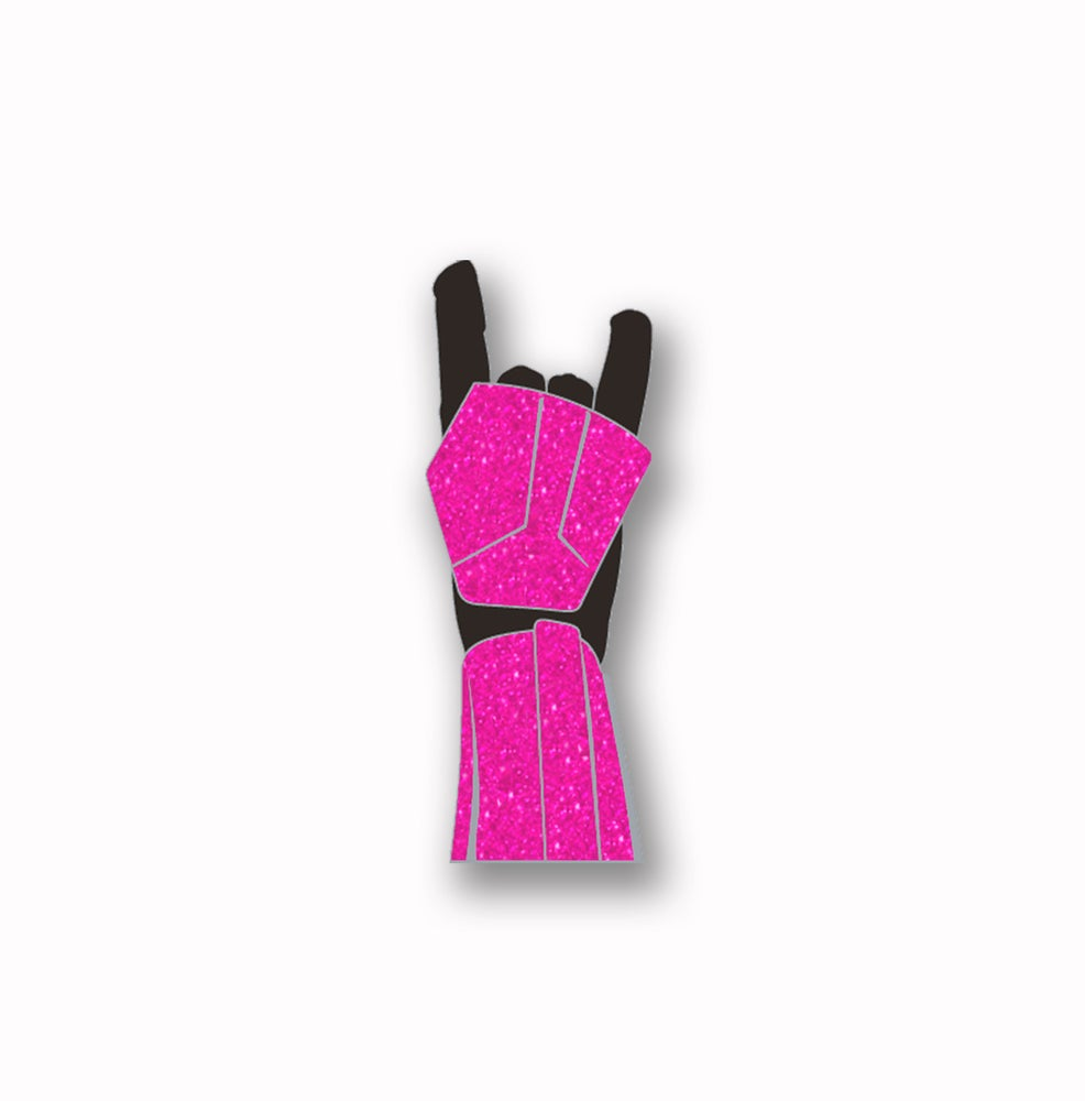 """Image of Force For the Cure: """"Trooper Horns"""" Pink Glitter Soft Enamel Pin"""