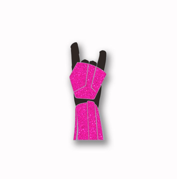"Image of Force For the Cure ""Trooper Horns"" Pink Glitter Soft Enamel Pin"
