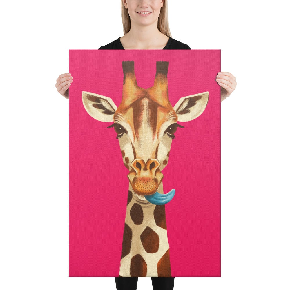 Image of Giraffe Lick - Canvas