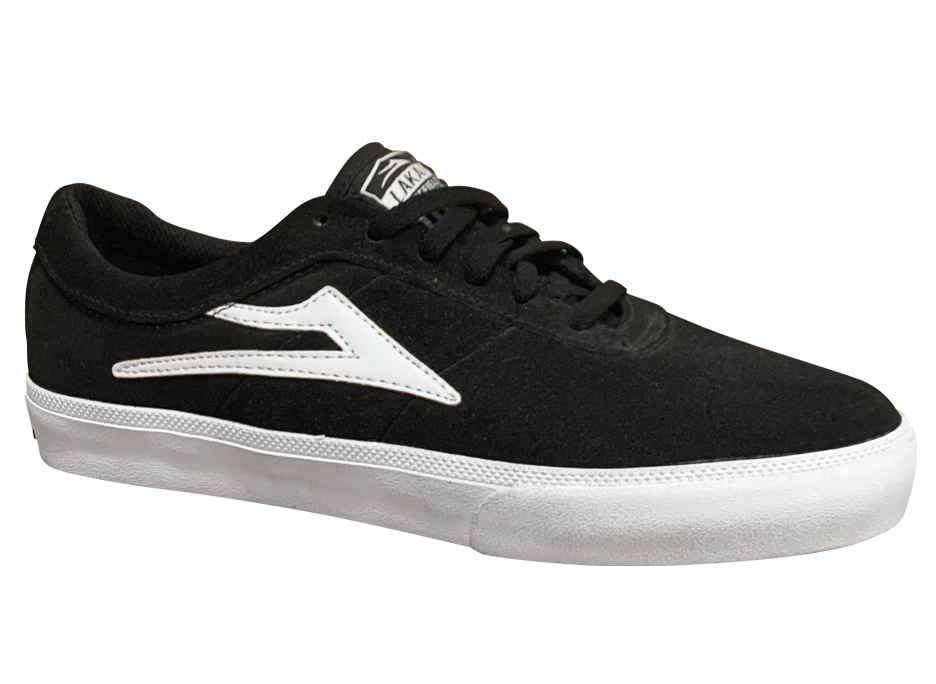 Image of Lakai Sheffield - Black / White Suede