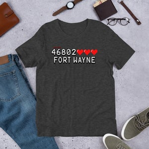 Image of 46802 High Score Zipcode Unisex Tee