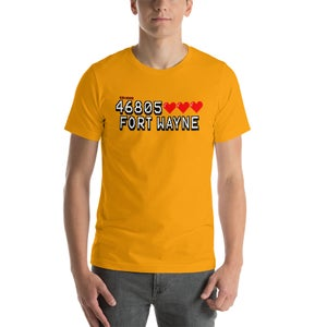 Image of 46805 High Score Zipcode Unisex T-Shirt