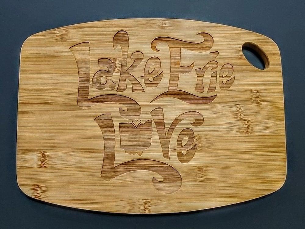 "Image of ""LAKE ERIE LOVE"" - Cutting Board"
