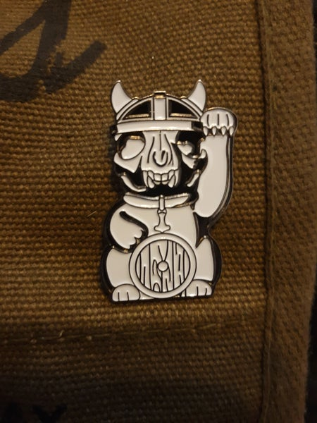 Image of Nordic Lucky Cat Enamel Pin