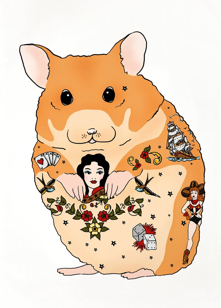 Image of Tattoo Hamster Card