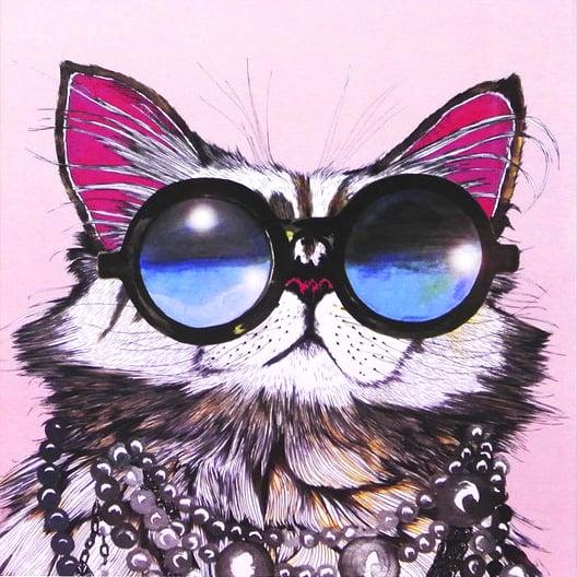 Image of Cat Sunglasses Card