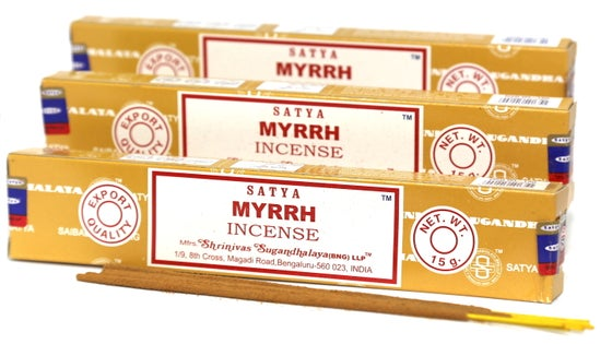 Image of Satya Myrrh Incense Sticks