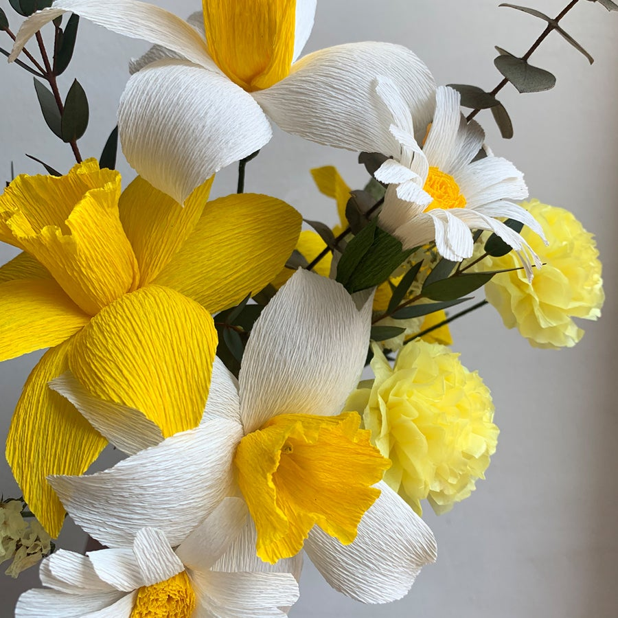 Image of Daffodil Paper Flower Bouquet