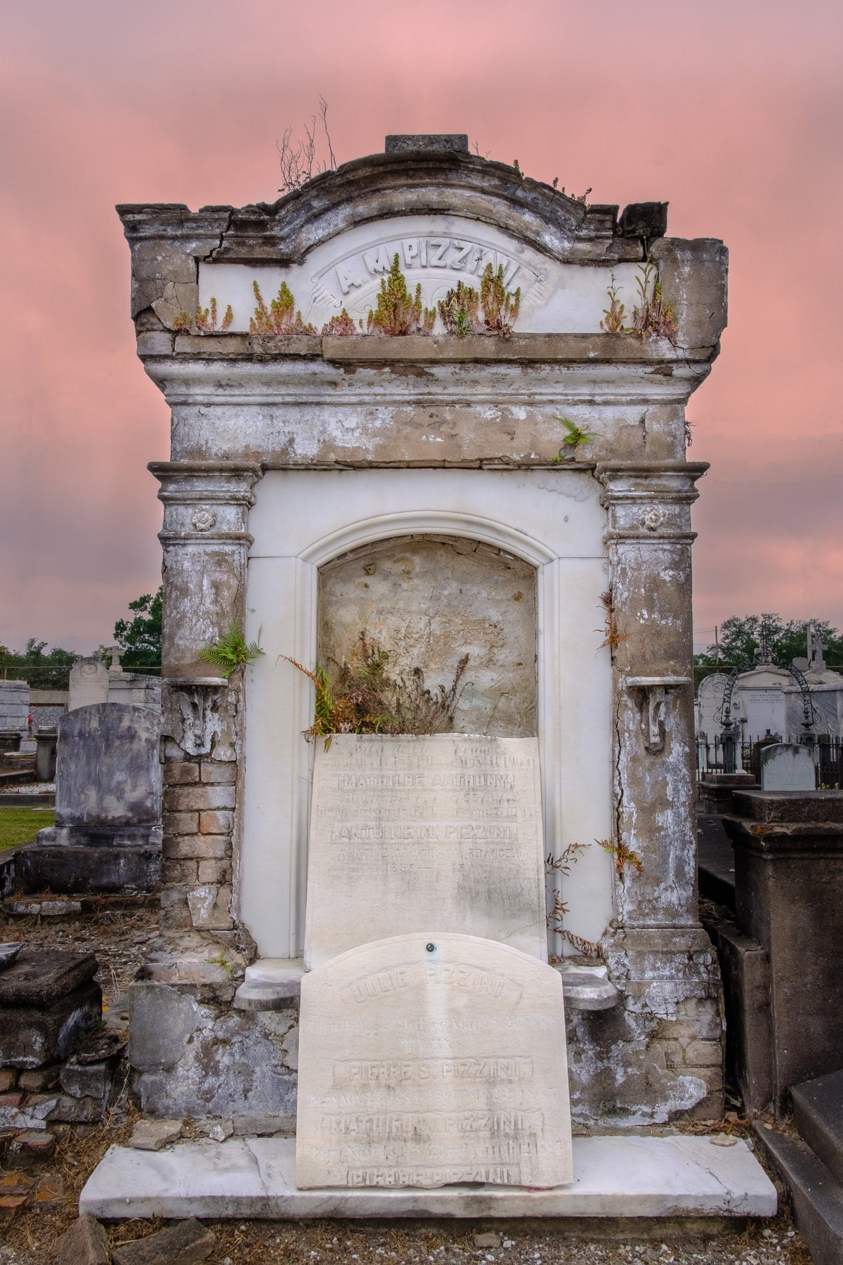 Pizzini / New Orleans Cemetery Photography Print