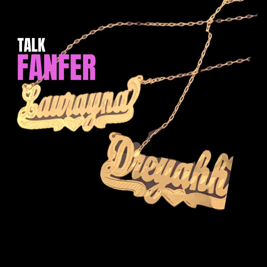 Image of Ol' Skool Name Necklace - ADULT