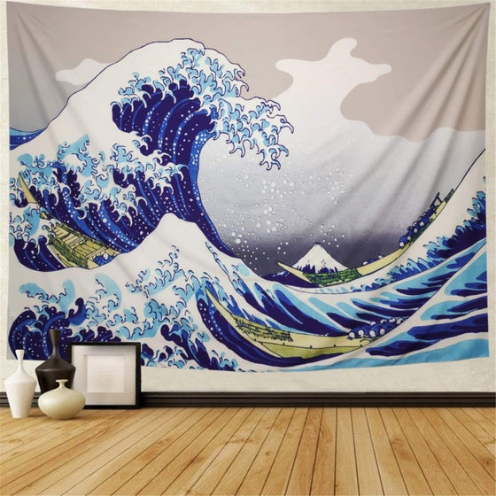 Image of Waves Tapestry