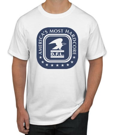 Image of AMERICA's MOST HARDCORE - T-Shirt (Wht)