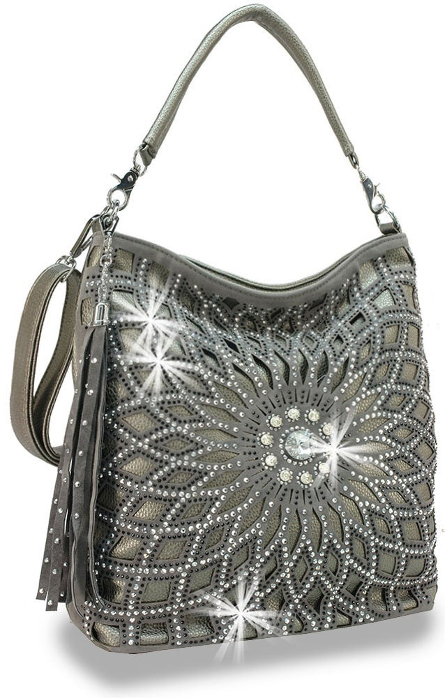 "Image of ""Sparkling"" Rhinestone Design Layered Hobo"