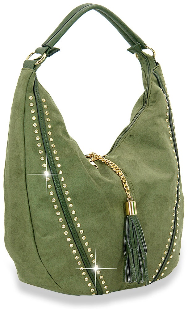 "Image of ""Sparkling""  Microsuede Hobo Purse"