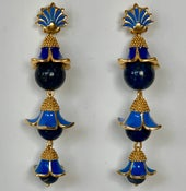 Image of Lapas beaded enamel earrings