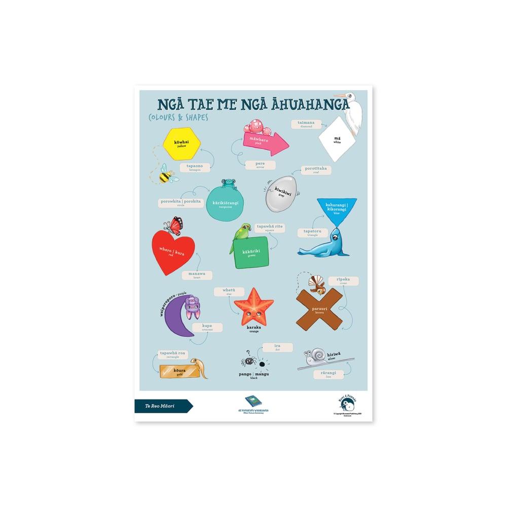 Te Reo Māori - A3 Poster - Colours & Shapes