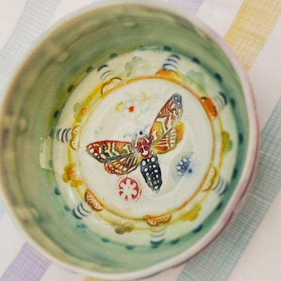 Image of Porcelain Sphinx Moth Dish