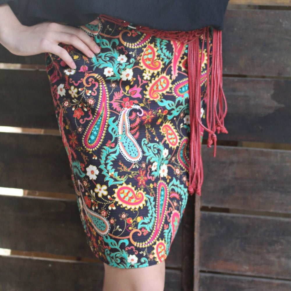 Image of Skirt - Paisley Circus Long
