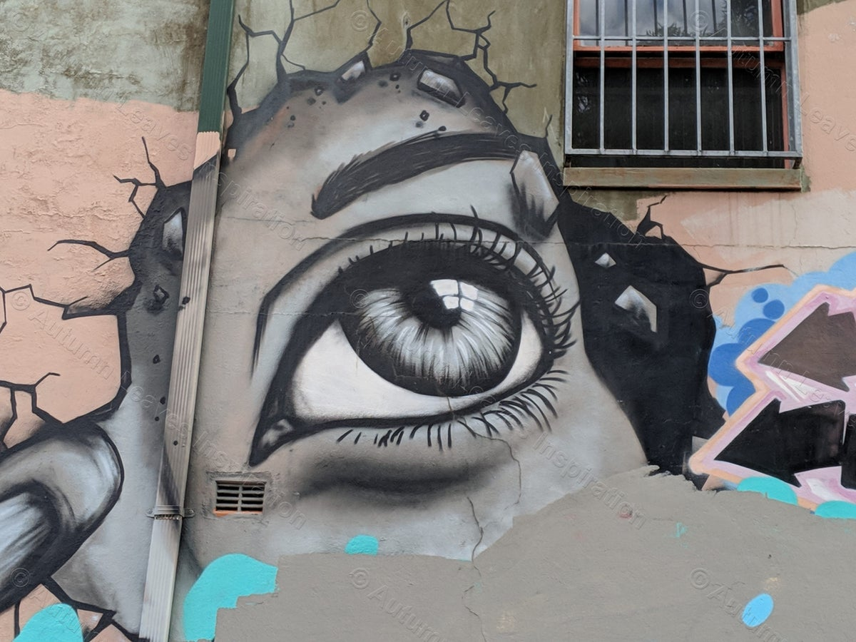 Image of AR15 Eye Street Art