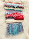 Pink and Blue Horizon Weaving