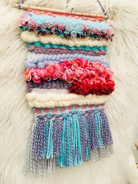 Image of Pink and Blue Horizon Weaving