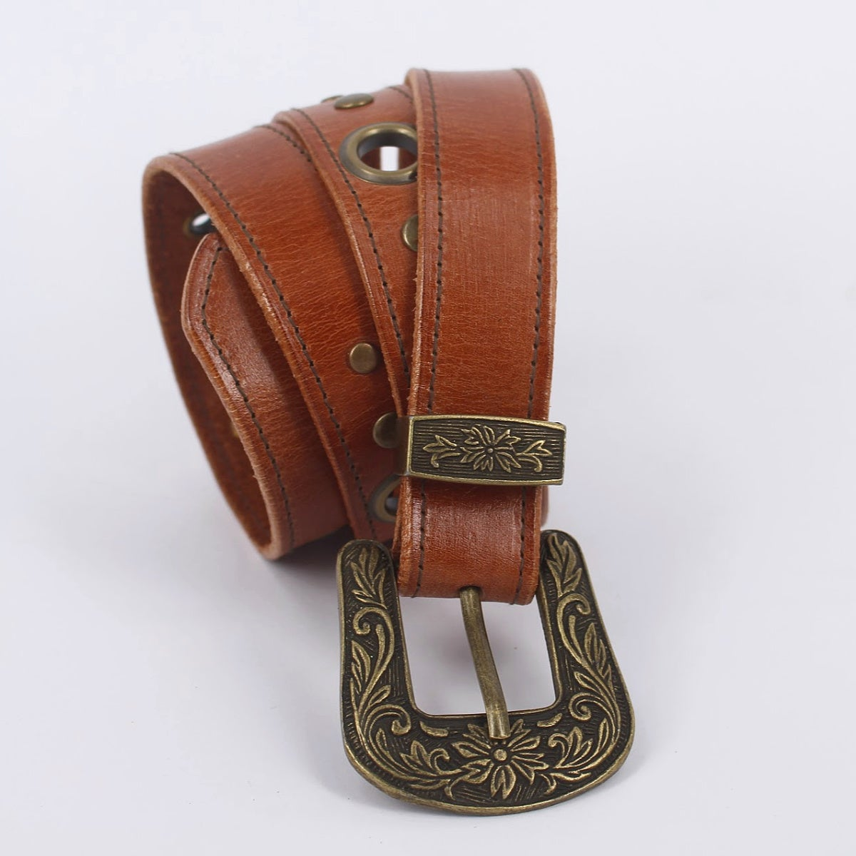 Image of Leather Boho Belt - Small Tan