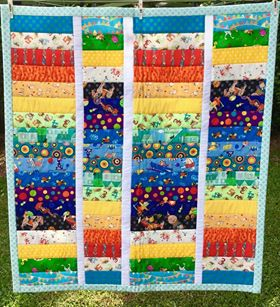 Image of I See Stripes I Spy Quilt