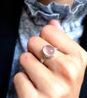 Image of Bague quartz rose - taille 55. Réf. #5413