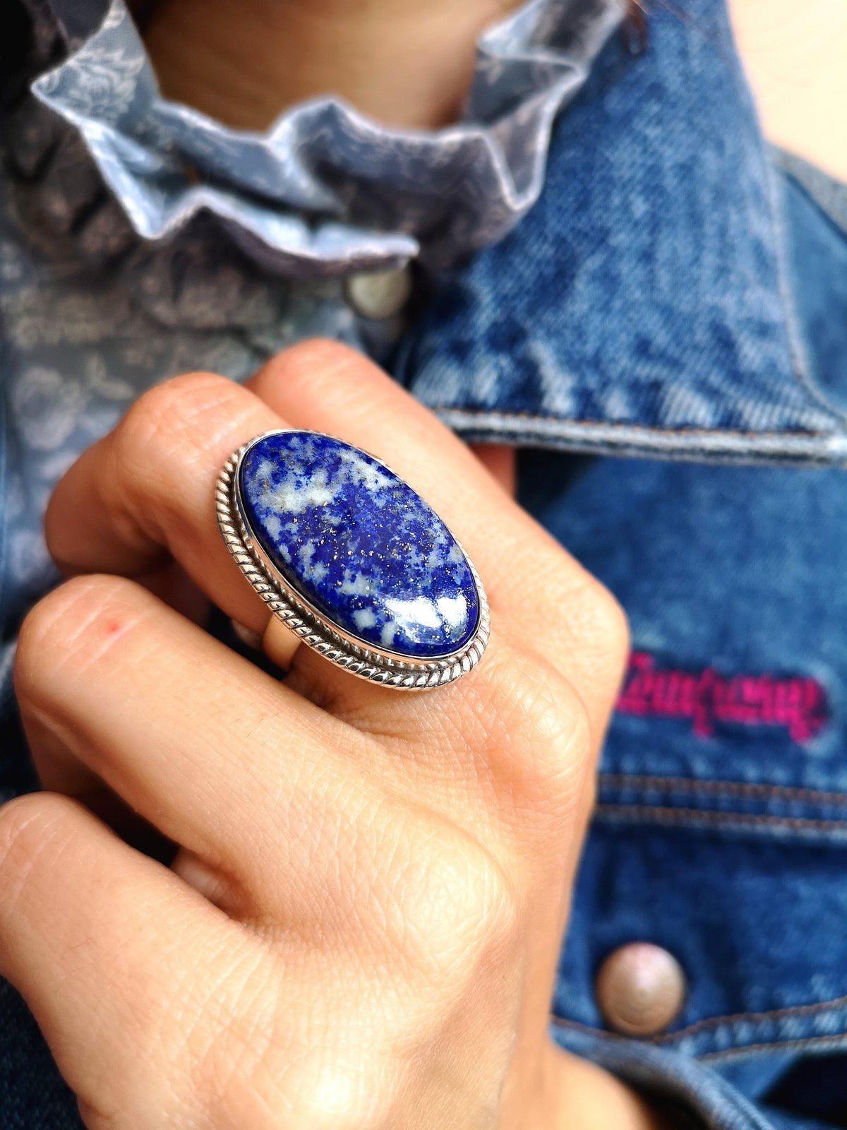 Image of Bague Lapis Lazuli taille 55 - ref. #4664