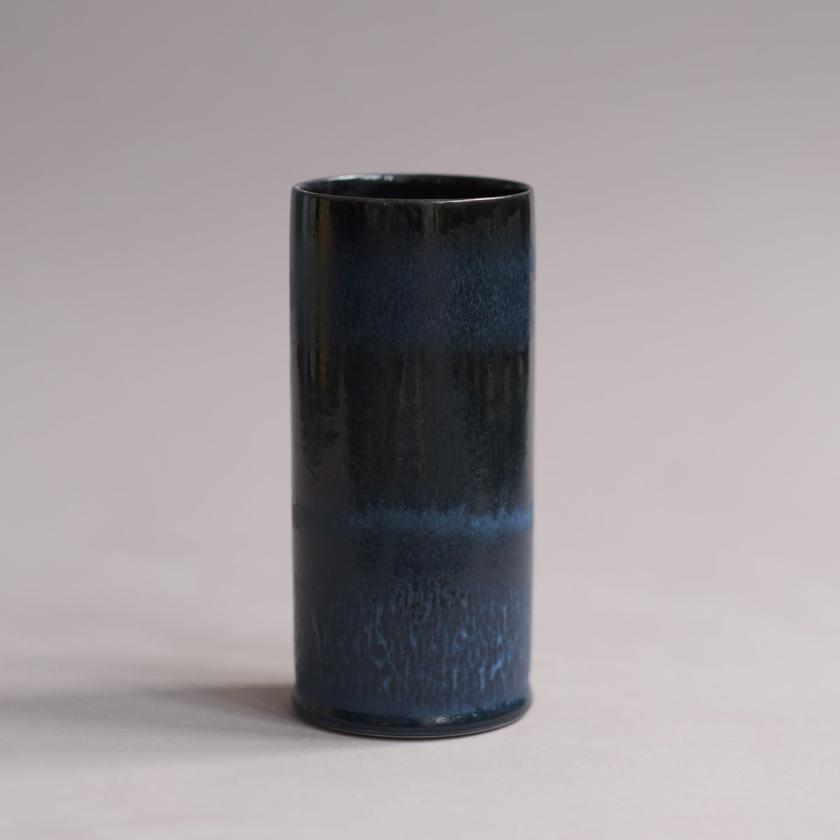 Image of UNIKA CYLINDER IN MIDNIGHT BLUE GLAZE