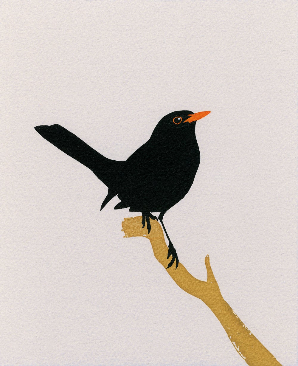 Image of Blackbird Screen Print