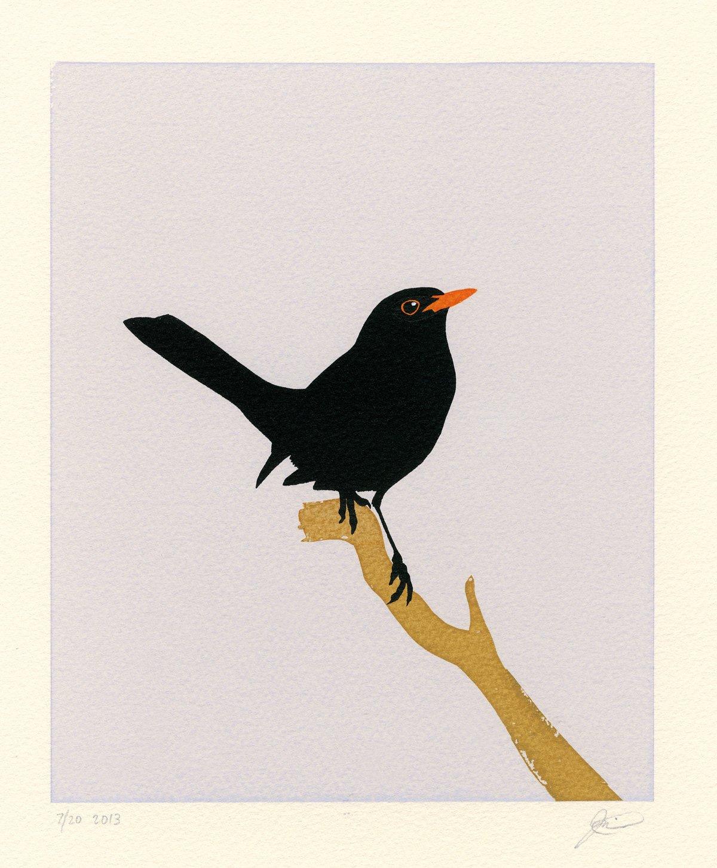 Image of Blackbird Screen Print