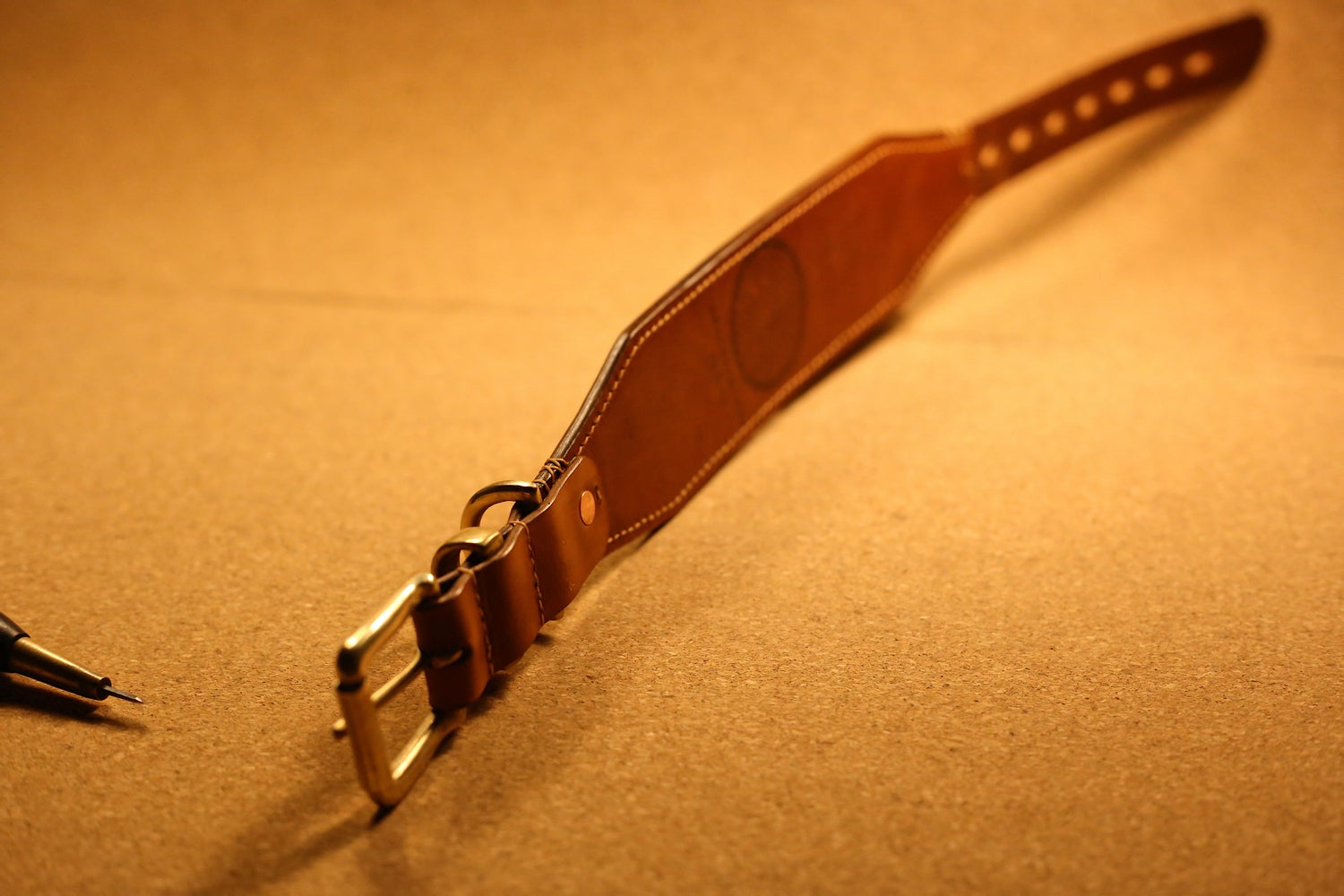 Image of Lined Greyhound Leather Collar