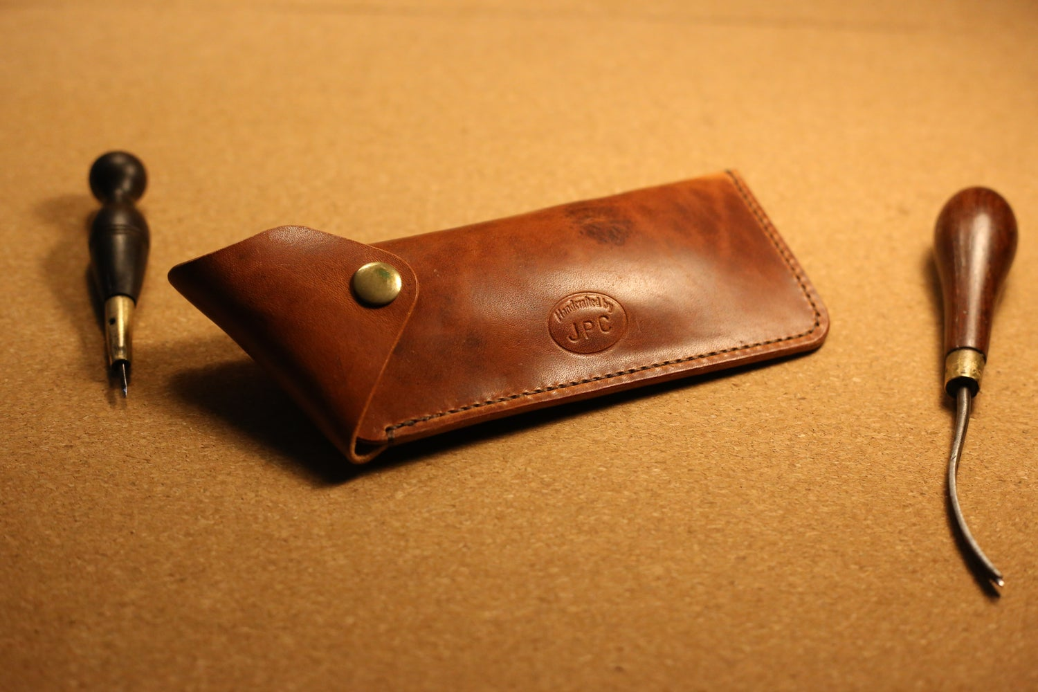 Image of Artist's Luxury Leather Pencil Case